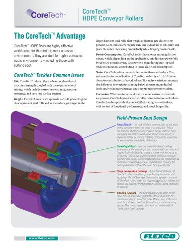 CoreTech HDPE Conveyor Rollers