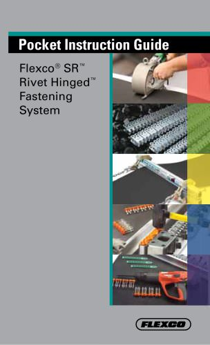 Flexco® SR Rivet Hinged Fastener Pocket Guide