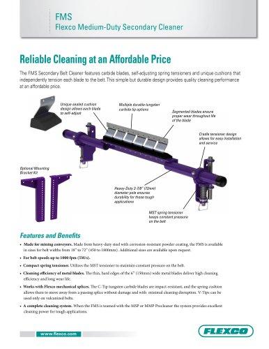 FMS Flexo Medium-Duty Secondary Cleaner