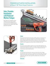 Powder Actuated Installation of Flexco® SR Rivet Hinged Fasteners - 1