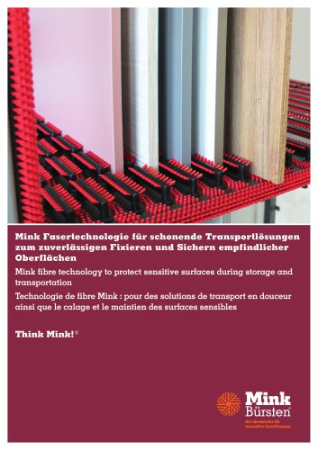 Mink fibre technology to protect sensitive surfaces during storage and transportation