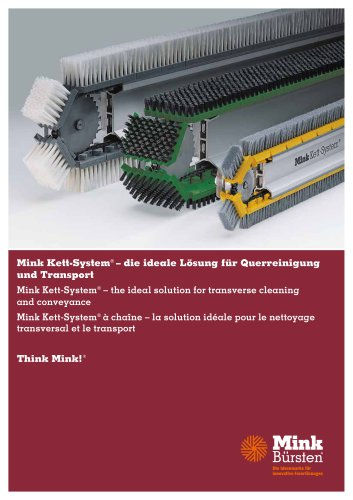 Mink Kett-System - the ideal solution for transverse cleaning and conveyance