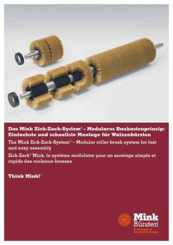 Mink Zick-Zack-System - Modular roller brush system for fast and easy assembly