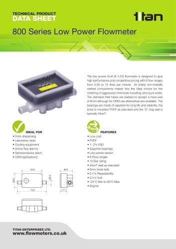 800 Series Low Power Flowmeter