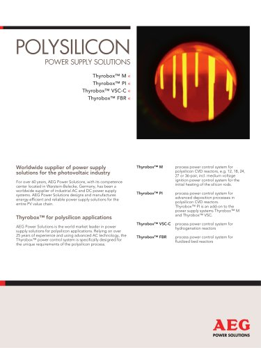 Polysilicon Power supply solutions