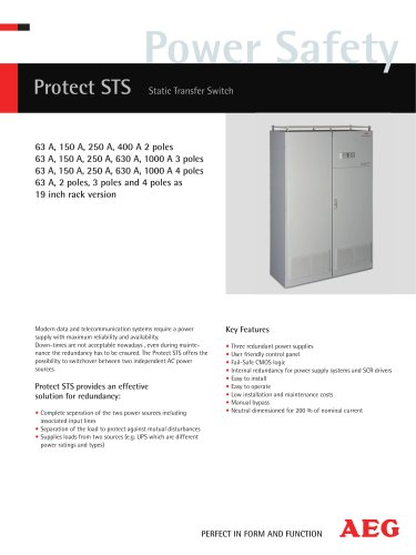 PROTECT STS STATIC TRANSFER SWITCH