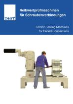 Friction Testing Machines for Bolted Connections
