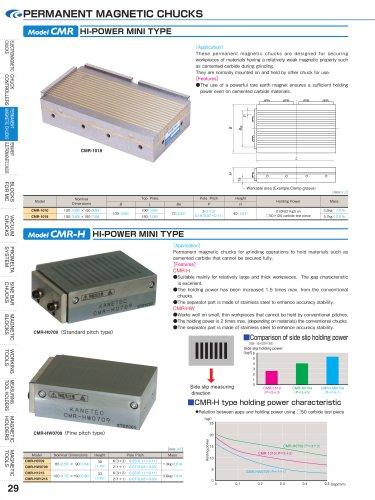 PERMANENT MAGNETIC CHUCKS HI-POWER MINI TYPE Model CMR