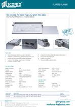 Série CleanType® Prime Panel+ en tablette rabattable