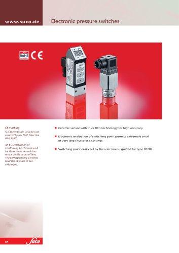 Electronic pressure monitoring