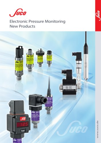 Electronic Pressure Monitoring- New Products