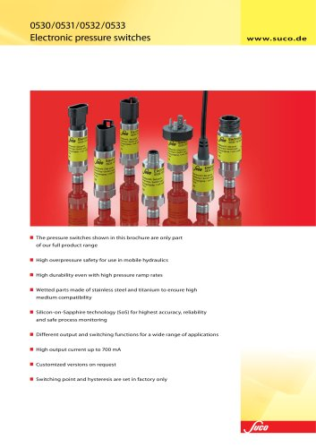 Electronic pressure switches with SoS-Technology