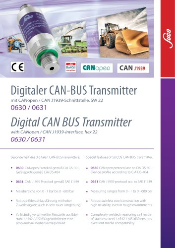 SUCO Digital CAN BUS Transmitter