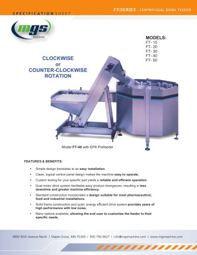 Centrifugal Bowl Feeders - Feed Bulk Items