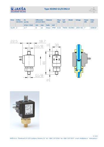 XD2NO G1/8 DN2.0