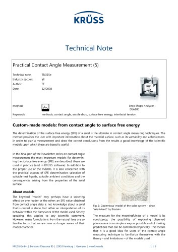 Practical Contact Angle Measurement (5) – Custom-made models: from contact angle to surface free energy