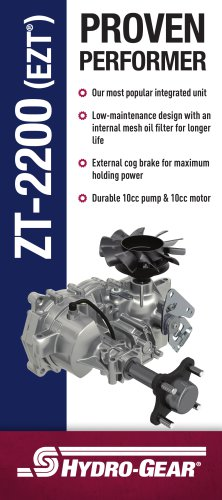 ZT-2200 (EZT ® ) - Hydro-Gear - PDF Catalogs | Technical