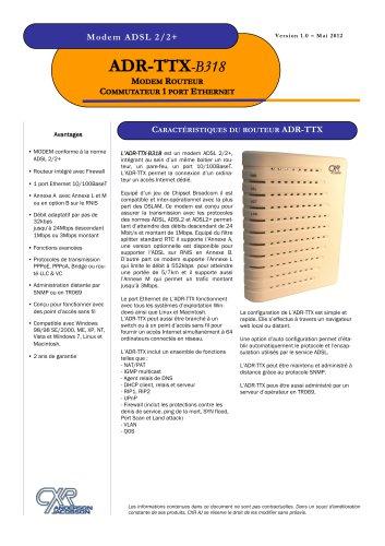 ADR-TTX-B318 Modem ADSL2/2+