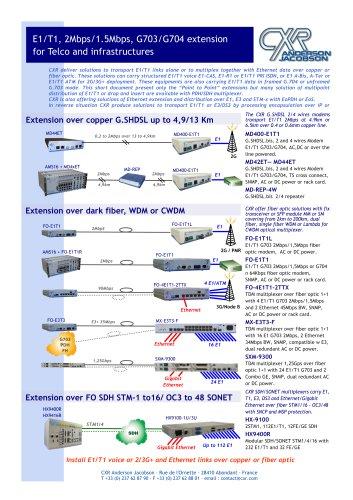 E1 Solution de distribution d E1