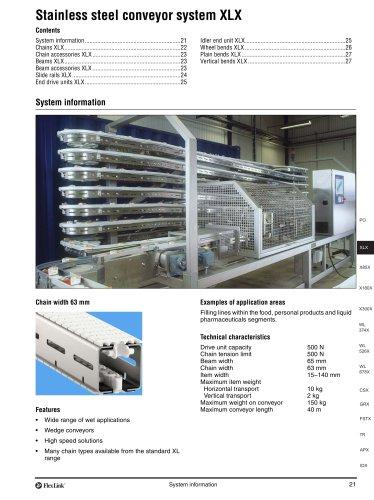 Conveyor system XLX - FlexLink - PDF Catalogs | Technical
