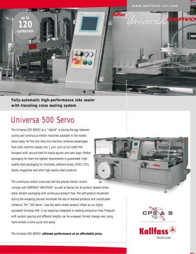 Automatic High-Speed Shrink Wrapping Machine: UNIVERSA 500 Servo