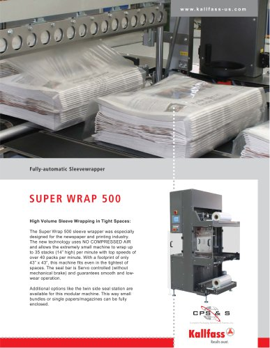 Automatic Shrink Wrapping Bundler: Super Wrap 500