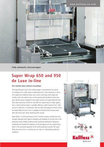 Automatic Shrink Wrapping Bundler: Super Wrap 650 de Luxe in Line