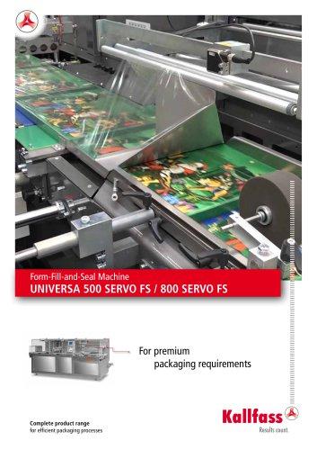 Form-Fill-and-Seal Machine UNIVERSA 500 SERVO FS / 800 SERVO FS