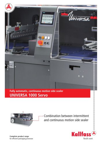 Fully automatic, continuous motion side sealer UNIVERSA 1000 Servo