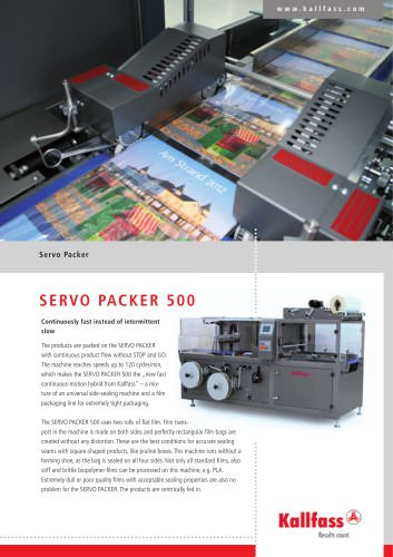 Fully automatic Shrink Wrapping Machine  SERVO PACKER 500