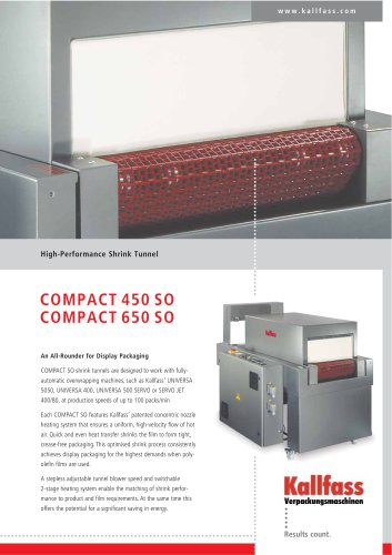 High-Performance Shrink Tunnel - Compact 450 SO/Compact 650 SO