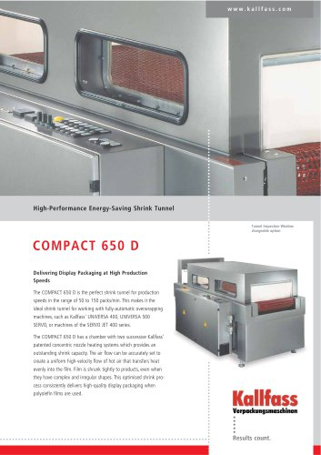 High-Performance Shrink Tunnel - Compact 650 D