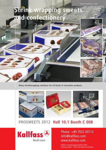 Sweets and confectionery brochure