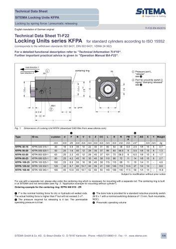 Locking units series KFPA