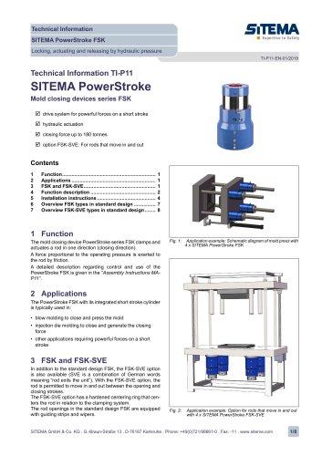 P11 - Dimensions type FSK (hydraulic)