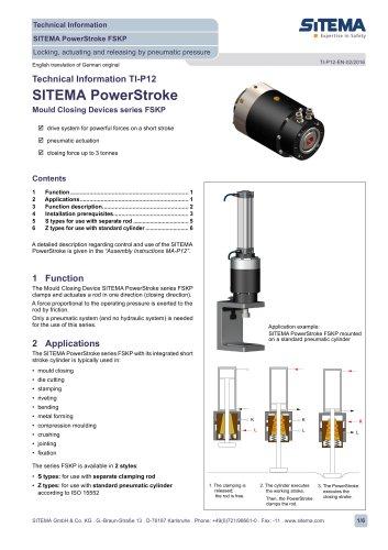 P12 - Dimensions type FSKP (pneumatic)
