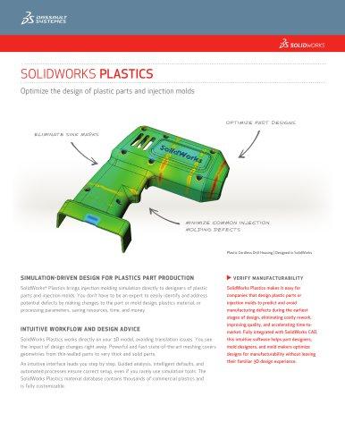 Solidworks Plastics Solidworks Europe Pdf Catalogs Technical Documentation Brochure