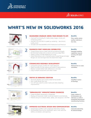 WHAT'S NEW IN SOLIDWORKS 2016