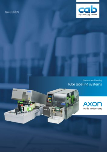 AXON 2 - Tube labeling system