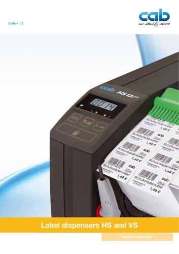 Label dispenser HS/VS