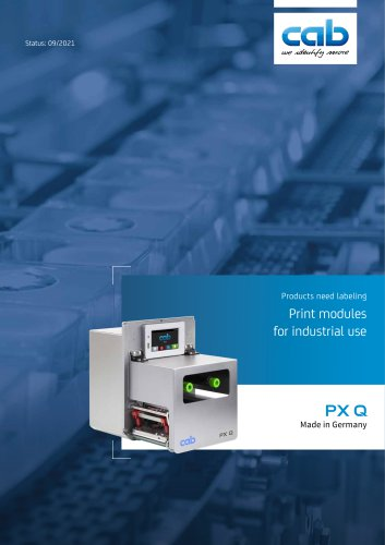 PX Q - Print modules for industrial use