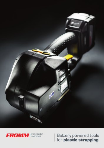 Battery powered tools for plastic strapping