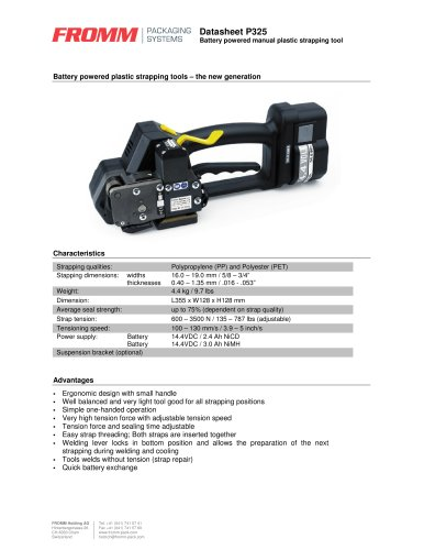 Battery tools P325