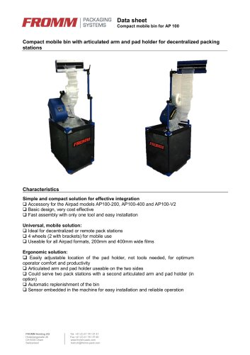 Compact mobile bin for AP 100