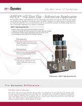 APEX? HS Slot Die - Adhesive Applicator