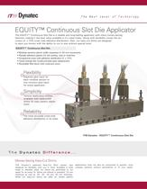 EQUITY Continuous Slot Die Applicator