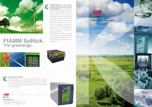 FIAMM SoNick. The greenergy
