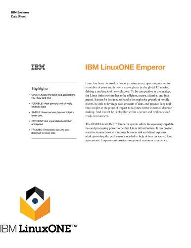 IBM LinuxONE Emperor