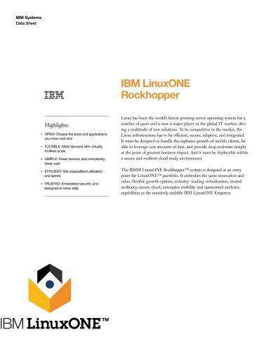 IBM LinuxONE Rockhopper