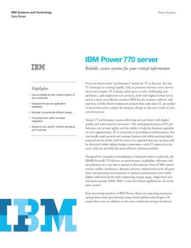 IBM Power 770 server